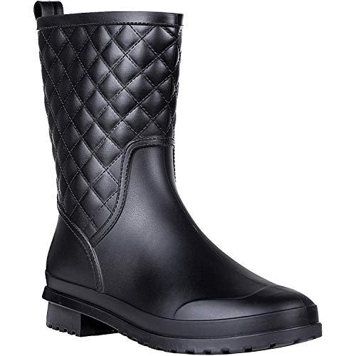 Litfun Women's Mid Calf Rain Boots
