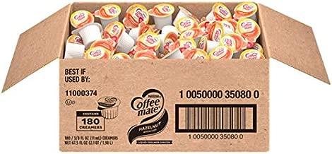 Nestle Coffee mate Coffee Creamer, Hazelnut, Liquid Creamer Singles, Non Dairy, No Refrigeration, Box of 180