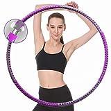 Hula Fitness - Aro para adultos para perder peso, 1 - 4 kg, acero inoxidable, 6 segmentos extraíbles, adecuado para entrenamiento físico, adelgazamiento y tonificación abdominal