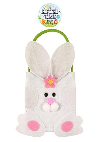 Harlequin 3 Bolsas de Regalo de Fieltro de Conejo de Pascua para Caza de Huevos