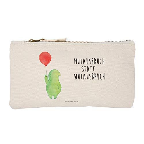 Mr. & Mrs. Panda Kosmetikbeutel, Stiftemäppchen, S Schminktasche Schildkröte Luftballon mit Spruch - Farbe Weiß