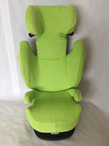 Sommerbezug Schonbezug für Cybex Solution M, M-Fix, S-Fix, M SL Frottee 100% Baumwolle grün