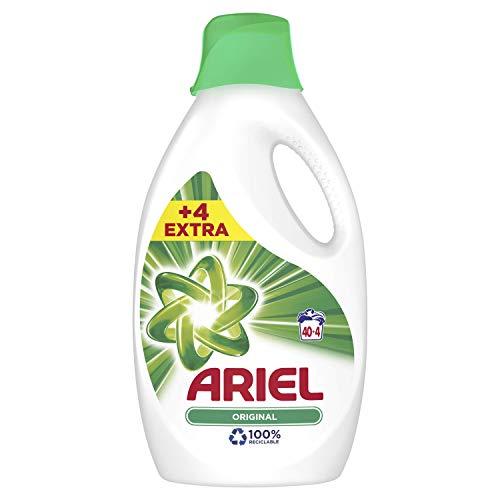 Ariel Original - Detergente líquido 2.42 l, 44 lavados, buen poder quitaimanchas, incluso a 30 °C