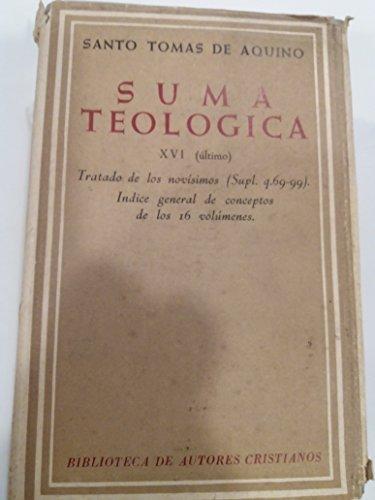 Suma Teológica de Santo Tomás de Aquino Tomo XVI (último) (13 x 20 cms)