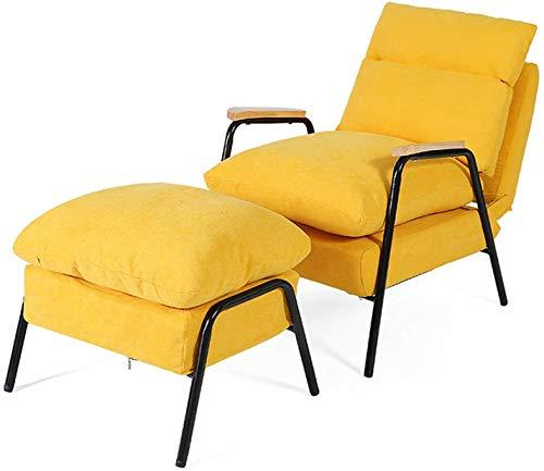 wyingj Sofá cama reclinable nórdico con respaldo ajustable y reposacabezas, sillón, reposapiés, balcón reclinable, muchos colores disponibles