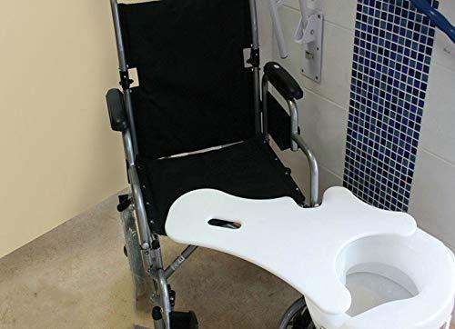 GHzzY Transfer Board für Commode - Gekrümmtes Transfer Board für den Transfer von Patienten vom Rollstuhl zur Commode - Polypropylen