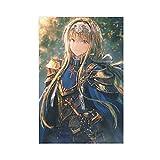 Sword Art Online - Póster de anime de Alicia Zuberg para dormitorio, decoración deportiva, paisaje, oficina, habitación, decoración, regalo, 40 x 60 cm