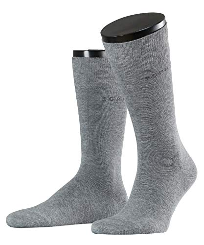 ESPRIT Herren Socken, Basic Uni 2-pack M So- 17811, 2er Pack, Grau (Light Grey Melange 3390), 43-46