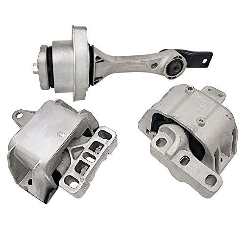 Engine Motor Mount Fits 1998-2005 Volkswagen Beetle 1.8L1.9L 2.0L 1999-2006 Volkswagen Golf 1.8L 2.0L 1995-2005 Volkswagen Jatta 1.8L 2.0L 3PCS A6929 A6930 A6935 1J0199262CL 1J0199955AJ 1J0199851R