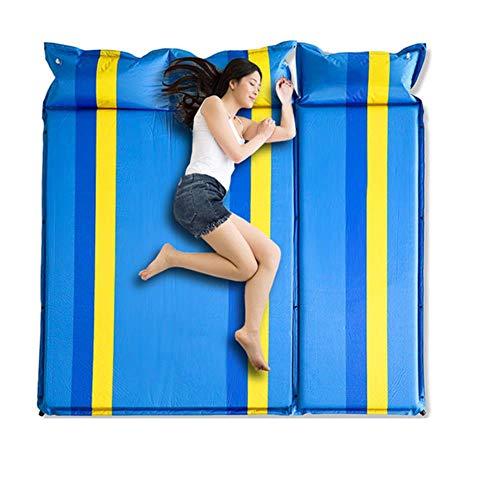2+1empalmado al aire libre grueso 3 cm automático inflable cojín dormir almohadilla al aire libre tienda camping esteras cama colchón 4 colores