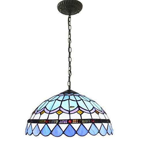 VOMI Tiffany Lámparas Araña Lámpara Colgante Decorativa Lámpara Vidrio Vintage Araña Luz Altura Ajustable, Mesa Comedor Lámpara de Techo Comedor Colgante Luz Lámparas Cocina Lámpara de Sala Re