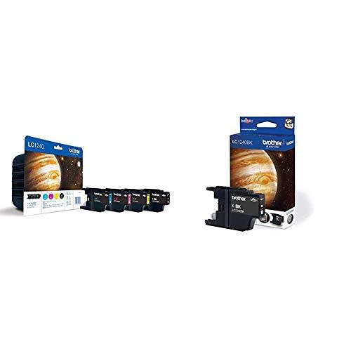 Brother LC1240 - Cartucho de Tinta, Multi-Pack (Negro, Amarillo, Magenta, Cian) + LC1240BK- Cartucho de Tinta Negro (duración Estimada: hasta 600 páginas según ISO/IEC 24711)