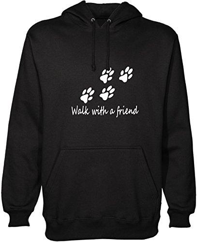 Promenade avec un ami à capuche à capuche pour chien promeneurs de chien accessoires chenils laisse - Noir - Large