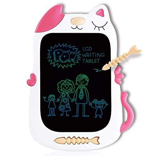 QISHI YUHUA Gifts for Girls Boys LCD Writing Tablet 85 InchColorful Doodle Board Drawing Board Birthday Present for 26 Years Old Girl Perfect Gifts for Little Kids  Pink Cat