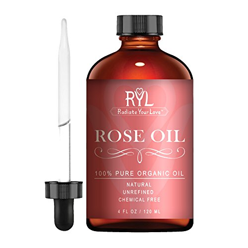 Radiate Your Love Rose Essential Oil, Large 4 Fluid Ounce, 100% Pure Therapeutic Organic Grade, Aromatherapy, Relaxation, Skin Therapy, Perfume & Diffusers