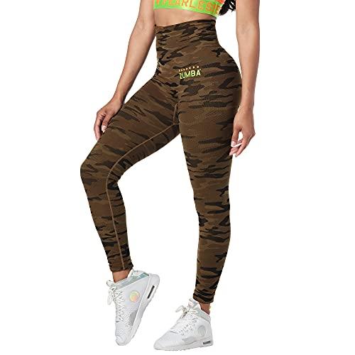 Zumba Leggings para mujer, camuflaje arena , Small