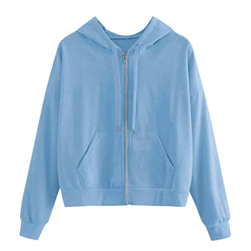 XXYsm Damen Oberteile mit Kapuze Langarm Reißverschluss Stickerei Schmetterling Taschenhemd Frauen Sweatshirt Top