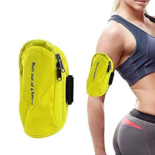 Hootracker Running Armband, Handy Armtasche, Wasserdicht Sportarmband Handy for Phone bis 6.6 Inch, Verlängerungsband und reflekltierendes Band, für Wandern Laufen Jogging Workout (Yellow)