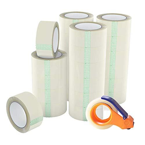 Printholic Packing Tape-60 Yards Per Roll (24 Rolls) 1.88 Inch with Wide Stronger and Thicker, Clear Packing Tape for Moving Packaging Shipping,Office or shiping-Storage-Tape-Packing-Refill-Shipping