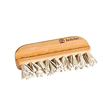 Redecker Natural Lint Brush with Oiled Beechwood, 5-1/4 inches, Easy to Clean Rubber Bristles Effectively Attract and Trap Hair, Made in Germany