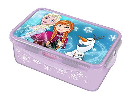 POS 28680 - Lunch to Go Clipdose mit Disney Frozen Motiv, circa 20,5 x 13,5 x 7 cm, 2 herausnehmbare Einsätze, auslaufsicher, Mikrowellen- und Spülmaschinengeeignet, gefrierfest, bpa- und phthalatfrei