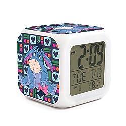 xinjinmaoyi Cartoon Non-Ticking LED Digital Desktop Alarm Clock for Kids Room Helpful for Children