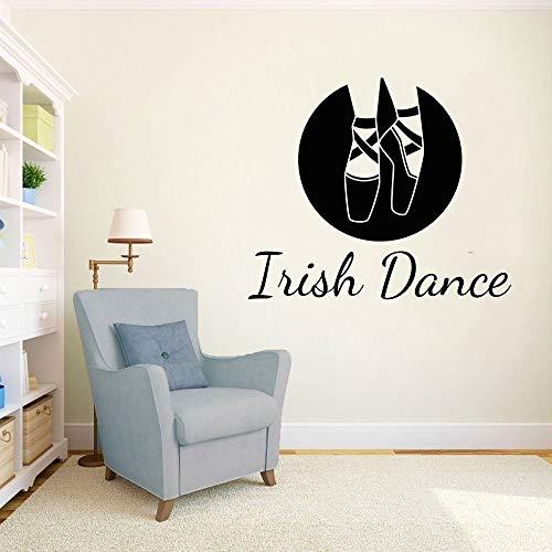 Rfokun Irische Tanzschuhe Wandaufkleber Abziehbilder Tanzaufkleber Gymnastikraum Vinyl Wandbilder dekorative Kunst 102x162cm