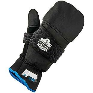Proflex 816 Thermal Fingerless Work Gloves, Black, Small