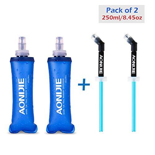 Azarxis Soft Flask Botella de Agua Blanda TPU Flexible Bolsa de Hidratación Deportiva para Correr Senderismo Ciclismo