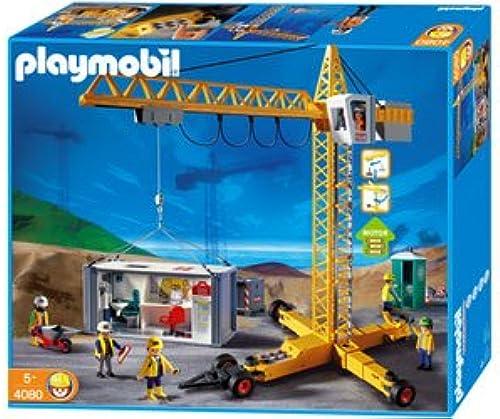 salida Playmobil 4080 - Construction Construction Construction Crane sitio de obras  Las ventas en línea ahorran un 70%.