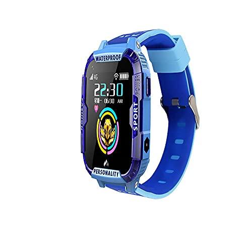 Niñas,Nuevo 4G Smart Phone Watch Watch GPS Posicionamiento Video Llamada AI Voz Educación Earlada HD Pantalla Toque-Azul