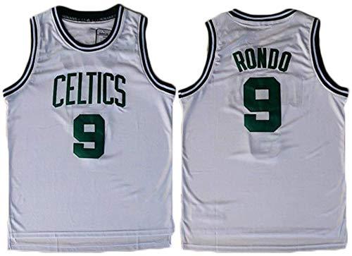 XIAOHAI Uomo NBA Maglie Boston Celtics # 9 Rajon Rondo Traspirante Wear Resistant Ricamato Maglia della Pallacanestro Swingman Jerseys Sport T-Shirt Maglie,L