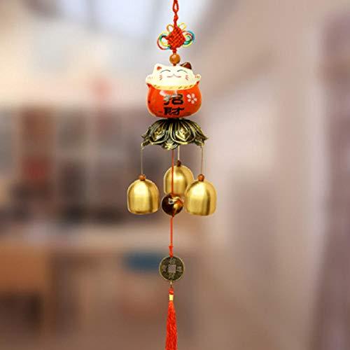 Tangyuan wind klokken voor tuin indoor tuin bamboe wind klokken voor tuin Deur ingang herinnering bel Open deur wind chime ornament retro hanger wenken kat deurbel ingang deur ornament Lucky Kat 3 Bell