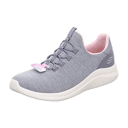 Skechers - Womens Ultra Flex 2.0 - Delightful Spot Slip-On Shoes, Size: 10 M US, Color: Gray/Pink