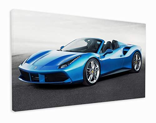 M2M Prints Lienzo Ferrari 488 Spider (20x12 pulgadas)