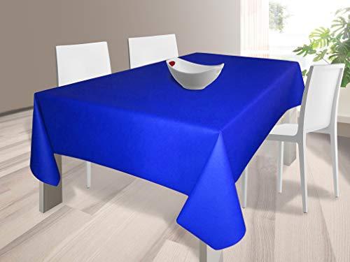HuleHule Mantel Tela Resinada Antimanchas Color Azul Marino (140_x_200_cm)