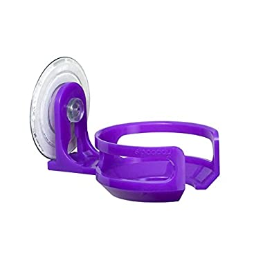 SipCaddy Bath & Shower Portable Cupholder Caddy for Beer & Wine Suction Cup Drink Holder, Purple