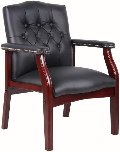 Best Boss Office Products Ivy League Executive Guest Chair in Black