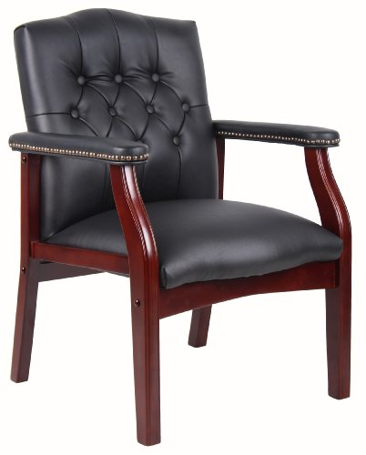 Boss Office Products Ivy League Executive Guest Chair, Black