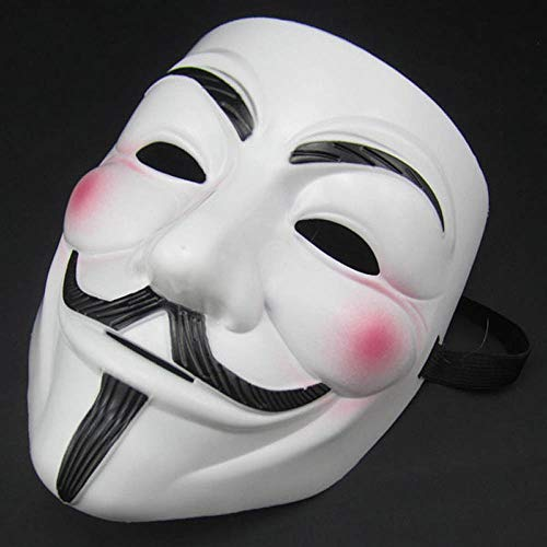 GOODS+GADGETS Anonymous Maske - V wie for Vendetta Mask - Guy Fawkes Mask - Halloween Karneval