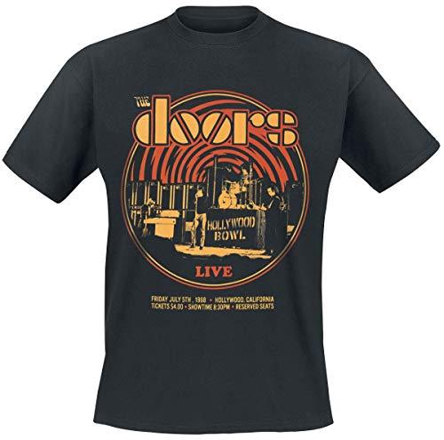 The Doors Warp Männer T-Shirt schwarz L 100% Baumwolle Band-Merch, Bands