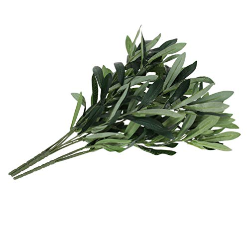 BESPORTBLE Artificial Olive Leaves Branches Stems Silk Olive Leaves Decorations Home Wedding Floral Arrangement Supplies