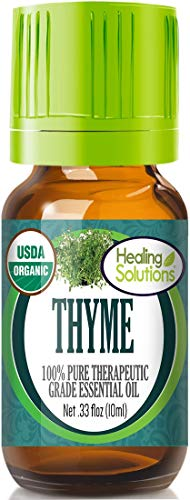 Organic Thyme Essential Oil (100% Pure - USDA Certified Organic) Best Therapeutic Grade Essential Oil - 10ml