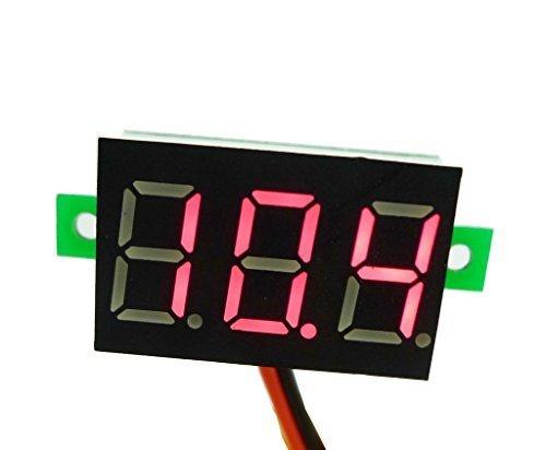 R LED Mini Digital Voltmeter Spannungsanzeige Panelmeter DC 3-30V SODIAL