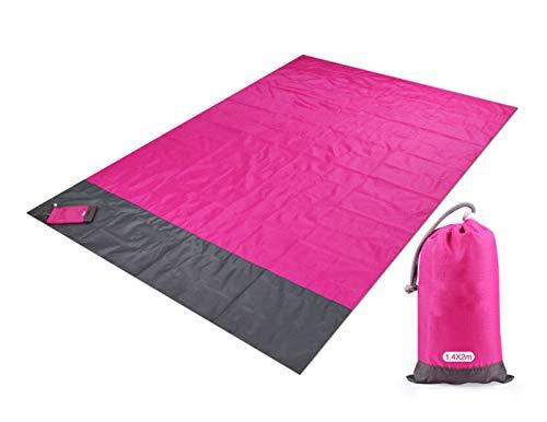 Manta de Picnic 210x200cm Manta de playa a prueba de agua Matada de picnic portátil al aire libre Camping Tierra Matón Colchón Alemento Camping Picnic Matchet ( Color : Rose red , Size : 200x140cm )