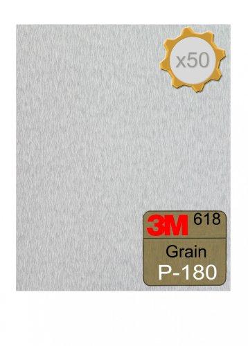 Feuille abrasive 3M 618 à sec 230x280 Grain 180 x 50