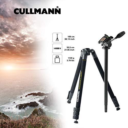 Cullmann 52462 - Trípode (Aluminio anodizado, 3 ángulos de Ajuste) Color Negro