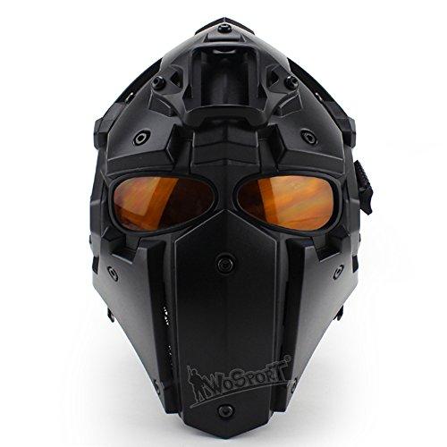 Lejie Tácticas Airsoft Casco Protección Facial Completa Máscara Gafas de Caza Paintball Tiro Militar Motocicleta Cosplay Apoyos de la película