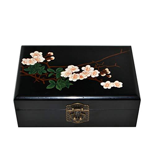 Laogg Caja Joyero Chino,Caja de joyeríabordado Retro...