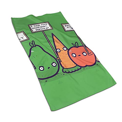 NOT Protesting Vegans Funny Vegetables Protest Signs Against Vegans Microfiber Hand Towels Towels Fast Drying Towels Sports Towels (27.5'x17.5') Use for Travel,Fitness,Yoga,Tea Towel,Kitchen Towel